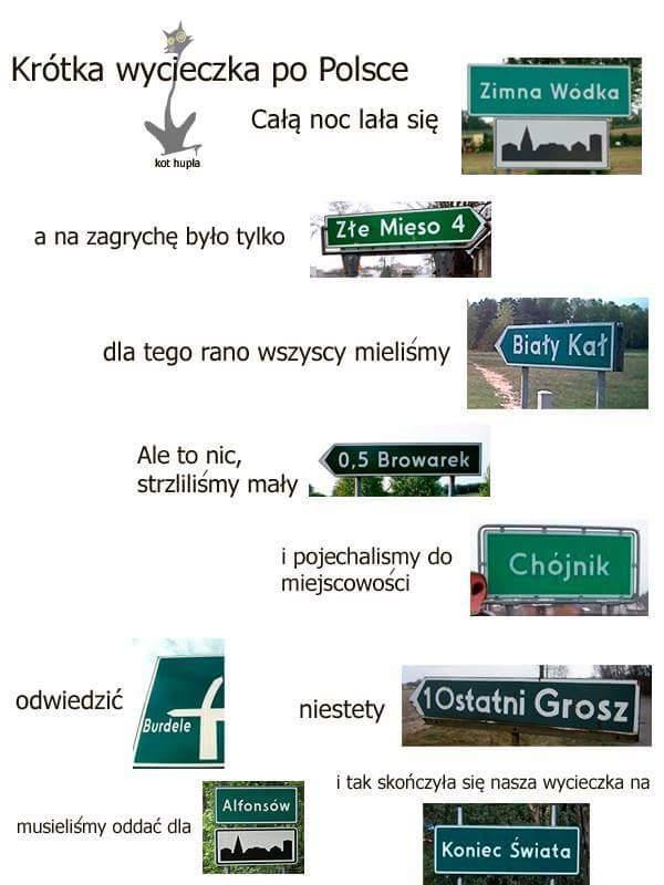 Krótka wycieczka po Polsce.