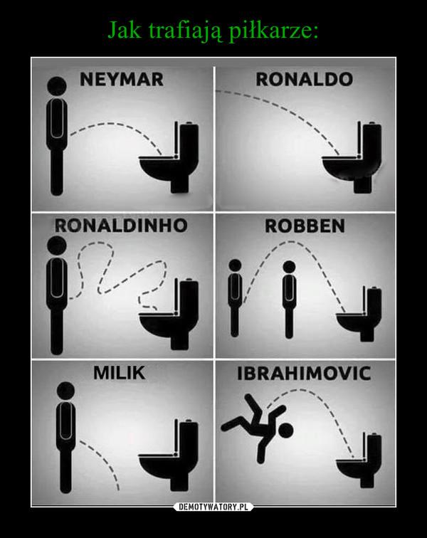 Jak trafiają piłkarze...