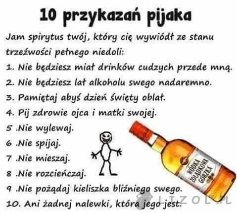 10 przykazań pijaka