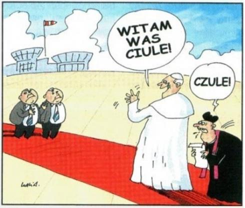 Papież wita