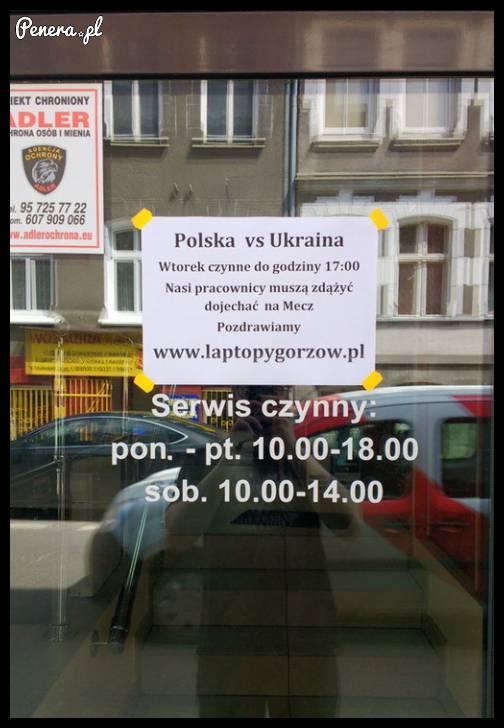 W związku z meczem Polska - Ukraina